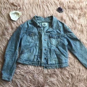 Old Navy Distressed Denim Jacket